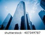 facade of skyscrapers  low... | Shutterstock . vector #407349787
