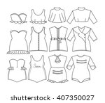 vector woman clothes classic... | Shutterstock .eps vector #407350027