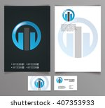 vector icon building ... | Shutterstock .eps vector #407353933