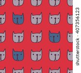 seamless cute pattern with... | Shutterstock .eps vector #407356123