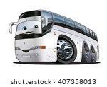 cartoon tourist bus. available... | Shutterstock .eps vector #407358013