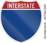 blank interstate highway shield ... | Shutterstock . vector #407362183