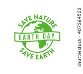 earth day design concept.... | Shutterstock .eps vector #407364523