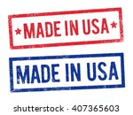 made in usa stamps 2 | Shutterstock .eps vector #407365603