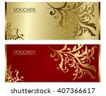 voucher vector  | Shutterstock .eps vector #407366617