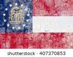 usa and georgia state flag