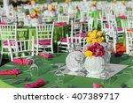 wedding table decoration | Shutterstock . vector #407389717
