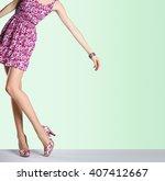 Woman In Fashion Vintage Dress...