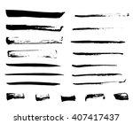 isolated ink brush black strokes | Shutterstock .eps vector #407417437