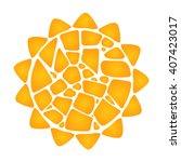 mosaic yellow sun on white... | Shutterstock .eps vector #407423017