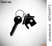 vector illustration keychain... | Shutterstock .eps vector #407424973