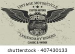 motorcycle vintage graphic ... | Shutterstock .eps vector #407430133