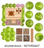 set of treetop symbols  for...   Shutterstock .eps vector #407490667