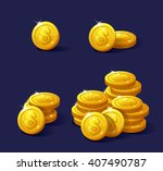 icons coins for the game... | Shutterstock .eps vector #407490787