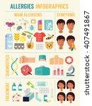 allergy infographics vector set ... | Shutterstock .eps vector #407491867