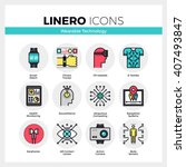 line icons set of wearable... | Shutterstock .eps vector #407493847