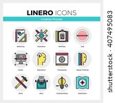 line icons set of creative... | Shutterstock .eps vector #407495083