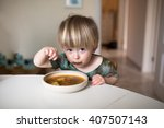 adorable caucasian toddler boy... | Shutterstock . vector #407507143