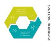 connected hexagonal infographic ... | Shutterstock .eps vector #407517643