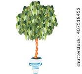 ficus tree | Shutterstock .eps vector #407518453