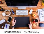 business person working at... | Shutterstock . vector #407519617