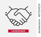 business handshake partnership... | Shutterstock .eps vector #407524513