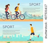 physical activity people... | Shutterstock .eps vector #407531617