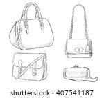 sketches of bags. vector...