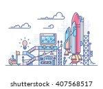 startup rocket launch | Shutterstock .eps vector #407568517
