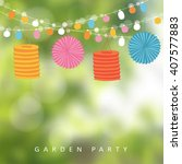 birthday garden party or... | Shutterstock .eps vector #407577883