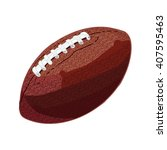 rugby ball. hand drawn vector... | Shutterstock .eps vector #407595463