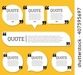 quote. flat design element set. | Shutterstock .eps vector #407595697