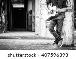 Male With Acoustic Guitar...