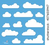 clouds. vector flat design... | Shutterstock .eps vector #407603947