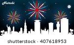 nairobi kenya skyline...   Shutterstock .eps vector #407618953