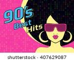best hits of 90s illistration... | Shutterstock . vector #407629087