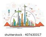 illustration of human base on... | Shutterstock . vector #407630317