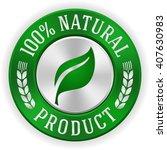 silver 100 percent natural... | Shutterstock .eps vector #407630983