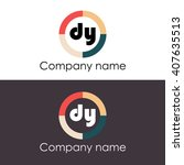 dy letters business logo icon...