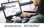Small photo of Pay Rent Leasable Real Estate Renting Available Concept