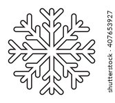 line icon snowflake. vector...   Shutterstock .eps vector #407653927