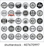 collection of retail black... | Shutterstock .eps vector #407670997