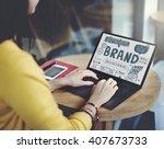 brand branding advertising... | Shutterstock . vector #407673733