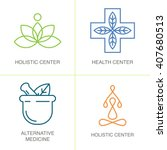 alternative medicine logos....   Shutterstock .eps vector #407680513