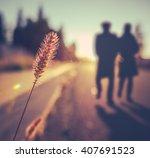 retro vintage soft focus... | Shutterstock . vector #407691523