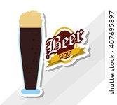 beer icon design   editable...   Shutterstock .eps vector #407695897