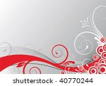 abstract floral background   Shutterstock .eps vector #40770244