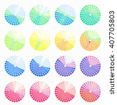 set circular color different... | Shutterstock .eps vector #407705803
