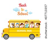 Children Enjoy On School Bus ...