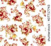 rose flower pattern  | Shutterstock .eps vector #407717743